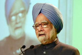Prime Minister Manmohan Singh on Friday laid the cornerstone for India's first Hadron therapy centre for cancer patients at the Tata Memorial Centre in Mumbai. Photo: Ramesh Pathania/Mint